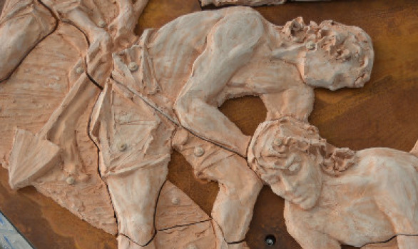 Riflessi di Storia - istallazione scultorea a Saint Vincent