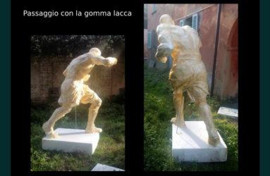 monumento dedicato a Giovanni Parisi realizzato da Antonio De Paoli a Voghera - fasi di realizzazione