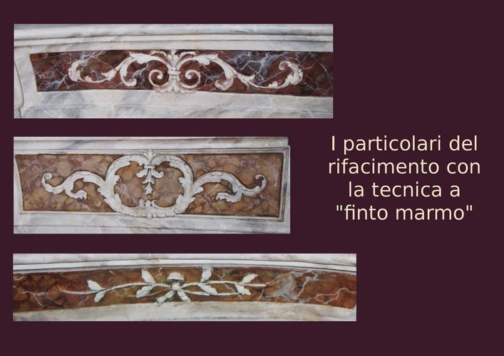 decorazione a finto marmo
