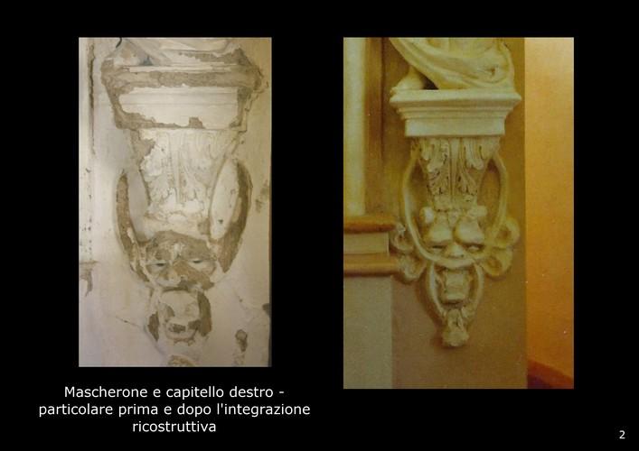 restauro decorazioni scultoree