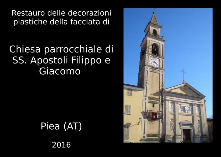 restauro chiesa parrocchiale di Piea